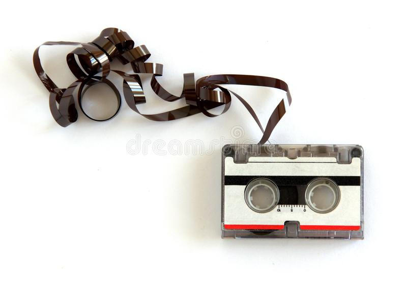Microcassette für Sprachaufzeichnungsanlage stockfoto