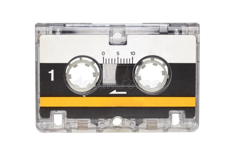 Microcassette isolated on white background royalty free stock image