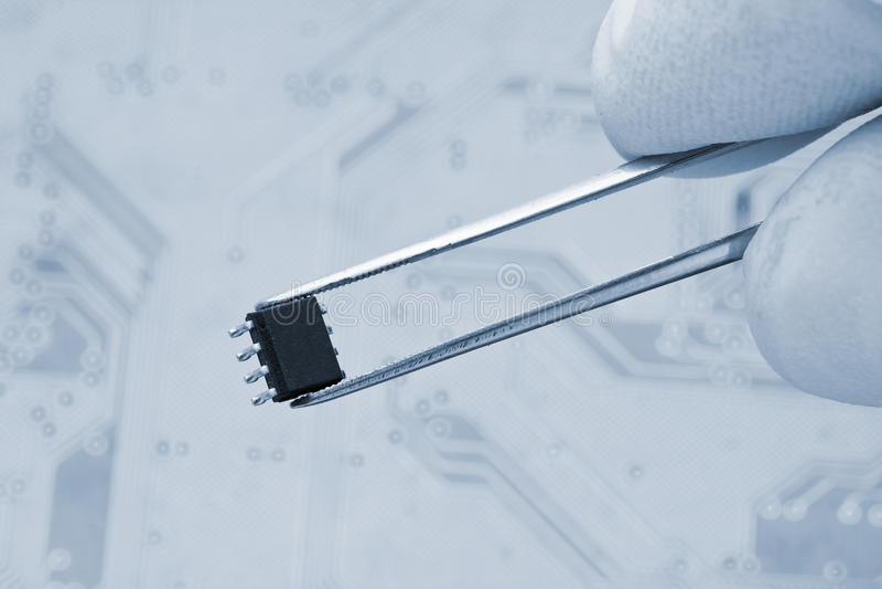 Microchip stock afbeelding