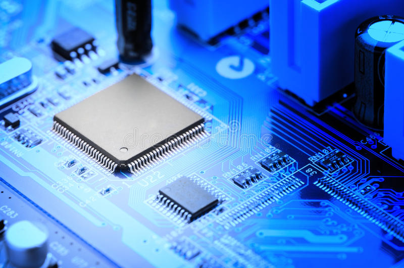 Microchip royalty free stock image