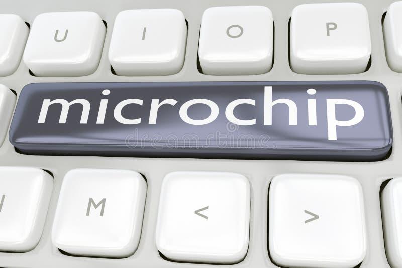 Microchip - concetto tecnologico illustrazione vettoriale