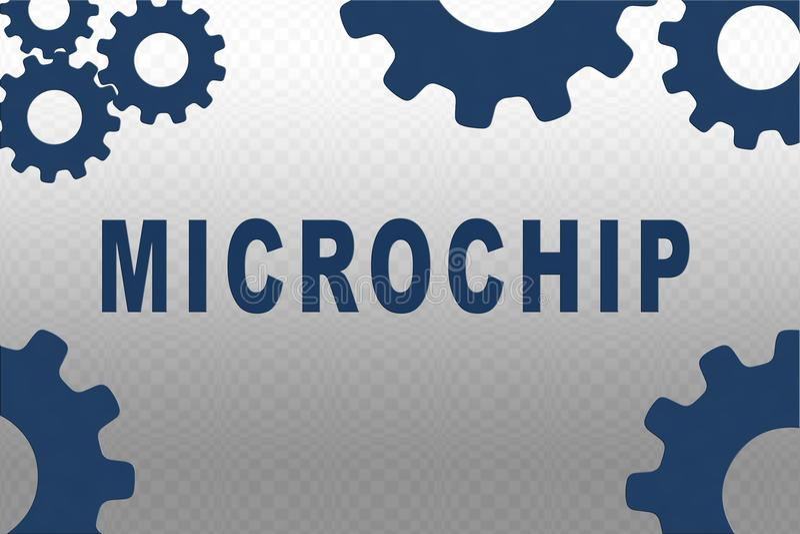 Microchip - concetto tecnologico royalty illustrazione gratis