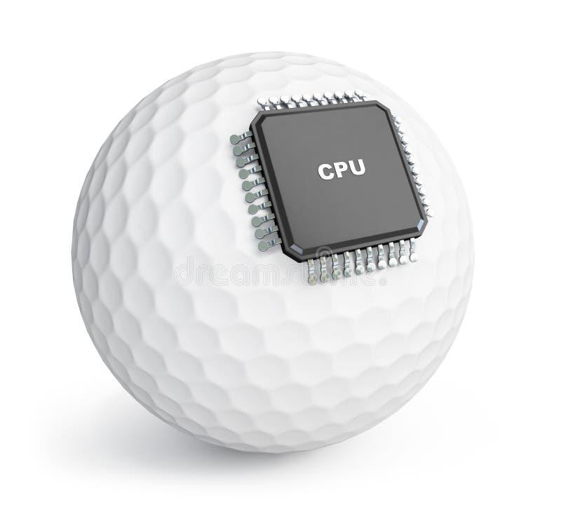 Microchip da esfera de golfe ilustração stock