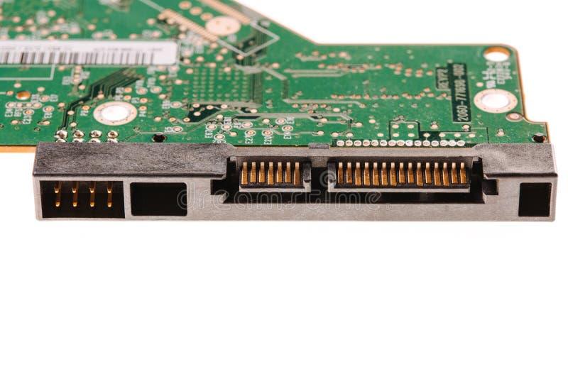 Microchip de HDD isolado no branco imagem de stock royalty free