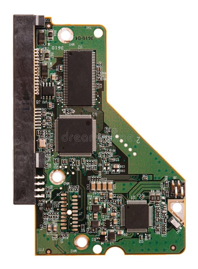 Microchip de HDD isolado no branco fotos de stock