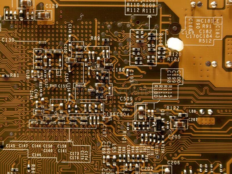 Microchip del videocard, II immagine stock