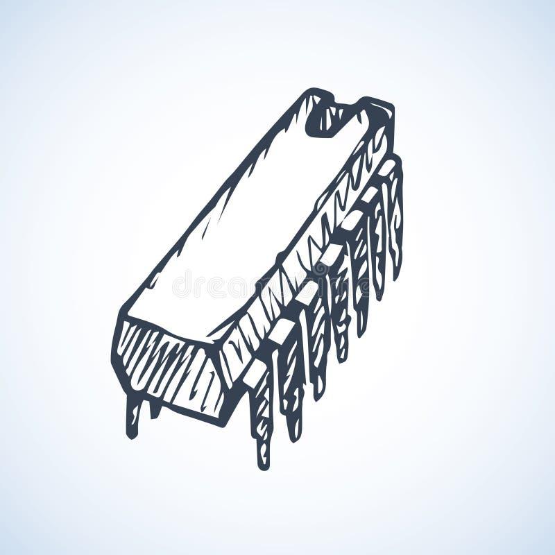 microchip Illustrazione di vettore royalty illustrazione gratis