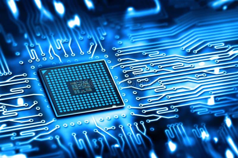 Microchip integrado fotografía de archivo