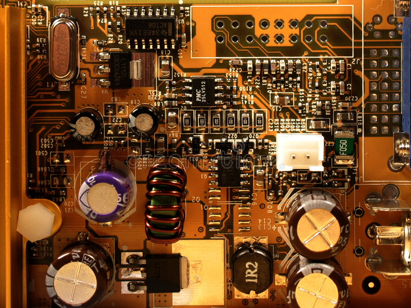 Download Microchip of videocard stock image. Image of capacitor, metal - 20995