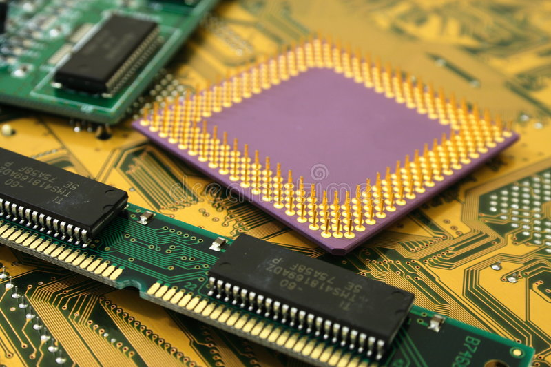Microchipes fotos de archivo