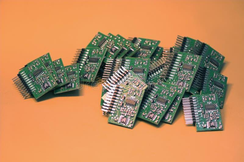 microchips arkivfoto