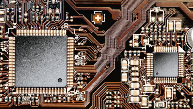Microchips op een kringsraad royalty-vrije stock foto