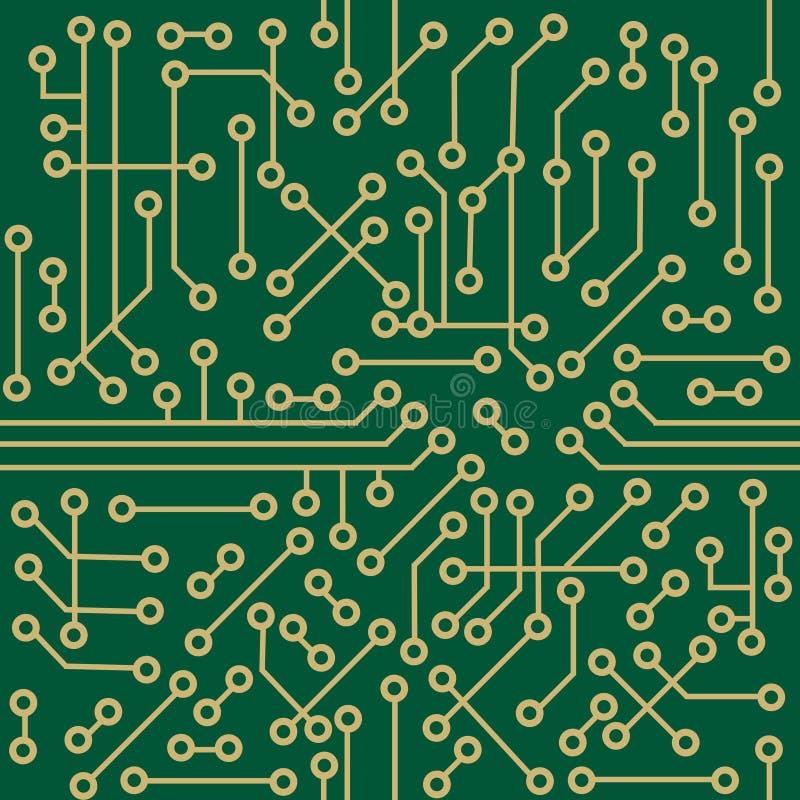 microcircuit bezszwowy royalty ilustracja