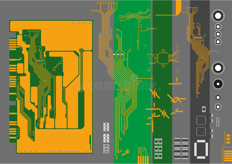 Microcircuit and elements. Vector illustration vector illustration