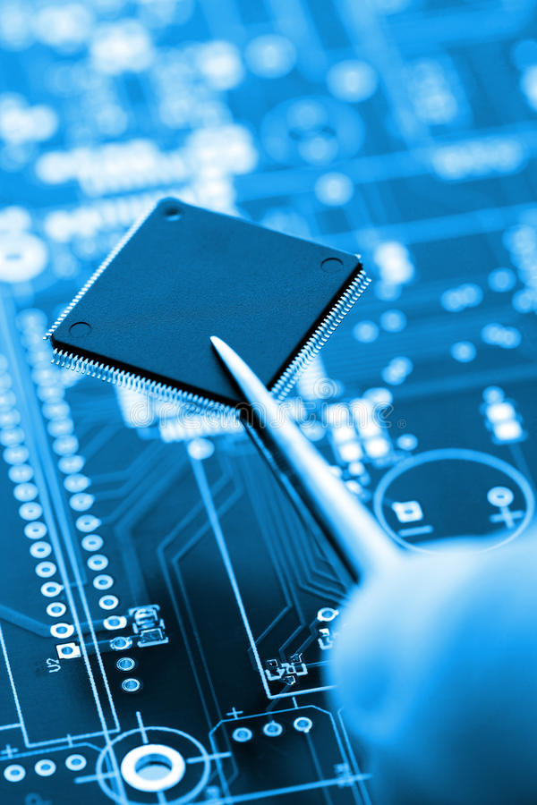Download Microcontroller On Assembling Line Stock Photo - Image: 32280682