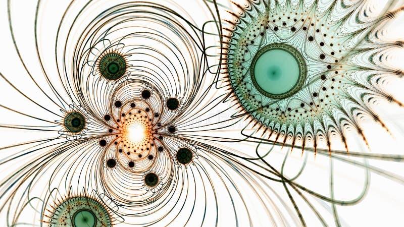 microcosm Bosatta celler under mikroskopet royaltyfri illustrationer