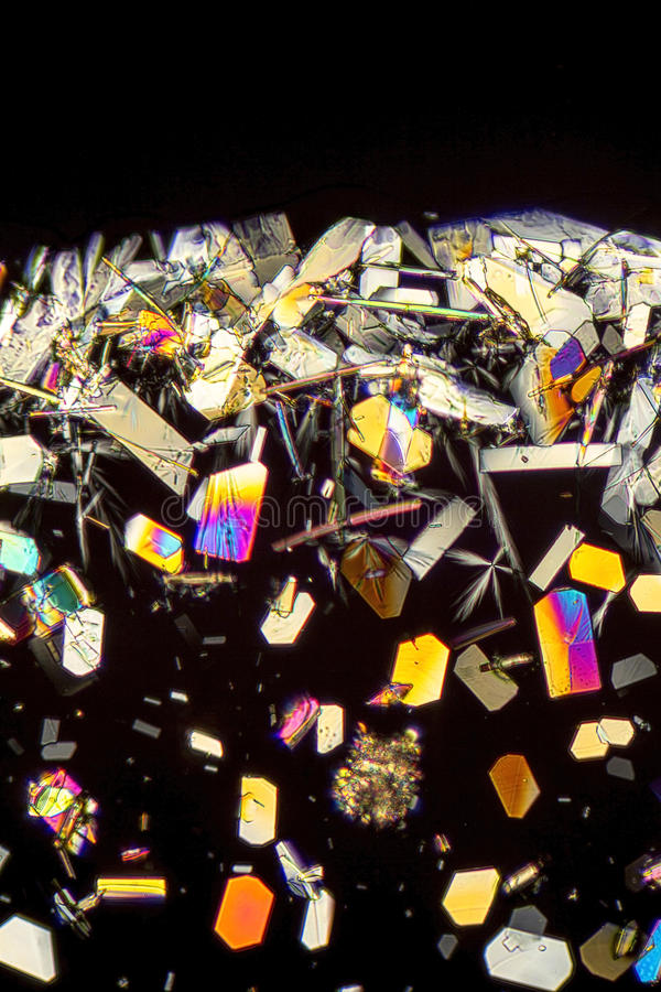 Microcrystals coloridos foto de archivo libre de regalías