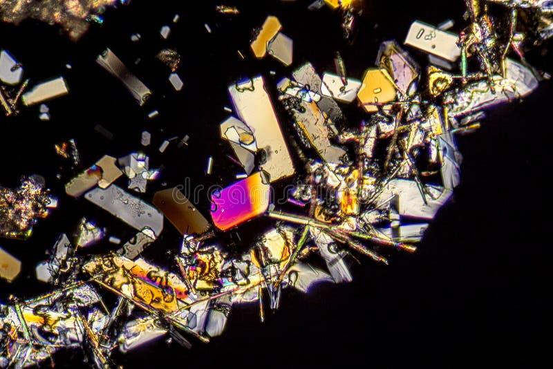 Microcrystals coloridos fotos de archivo libres de regalías