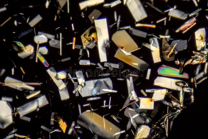 Microcrystals coloridos imagen de archivo libre de regalías