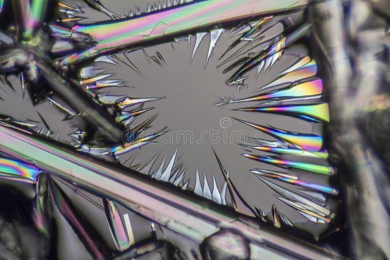 Microcrystals da lixívia de soda fotografia de stock