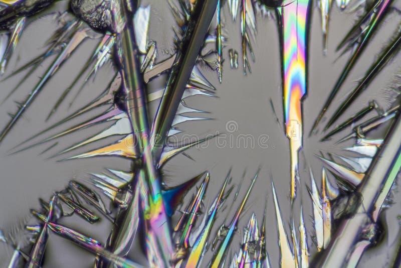 Microcrystals da lixívia de soda imagens de stock