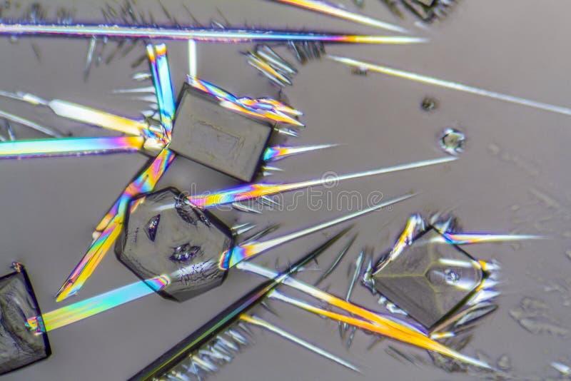 Microcrystals da lixívia de soda imagem de stock royalty free