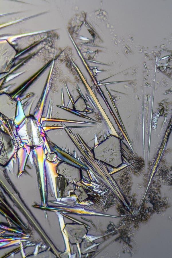 Microcrystals da lixívia de soda fotos de stock