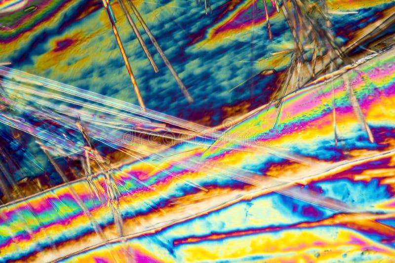 Microcrystals del carbonato sódico imagen de archivo
