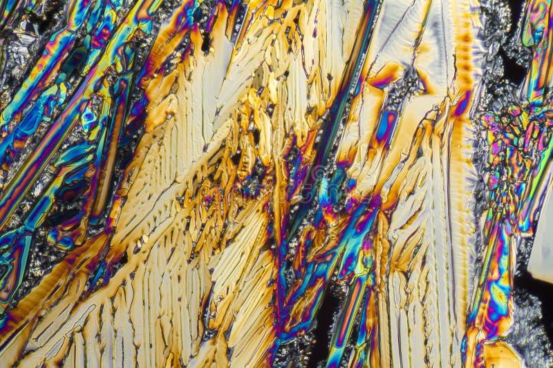Microcrystals del nitrato de sodio fotografía de archivo libre de regalías