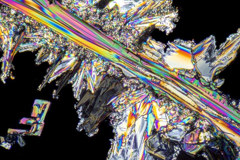 Microcrystals del nitrato de sodio imagen de archivo libre de regalías