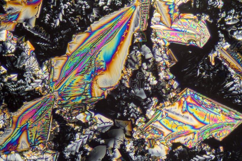 Microcrystals del nitrato de sodio fotos de archivo