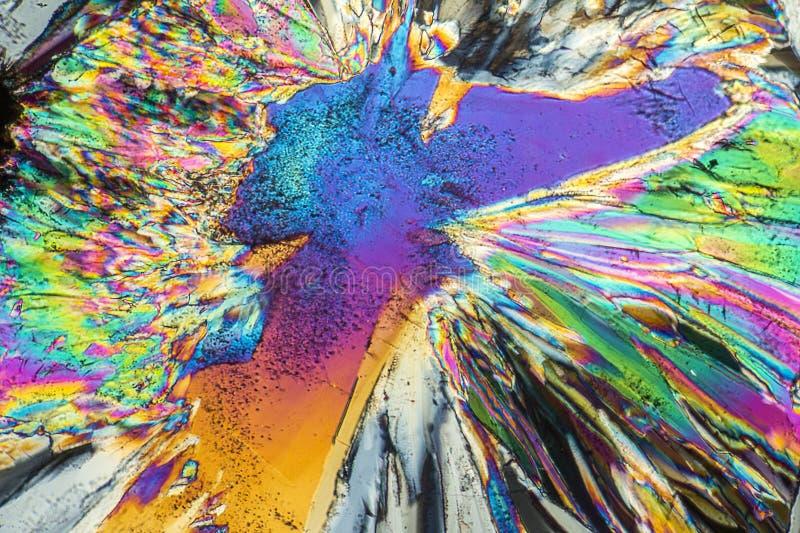 Microcrystals trisódicos del citrato foto de archivo
