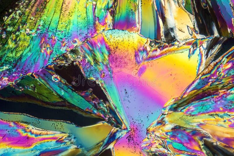 Microcrystals trisódicos del citrato fotos de archivo