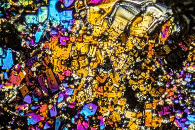 Microcrystals van het ammoniumsulfaat royalty-vrije stock afbeelding