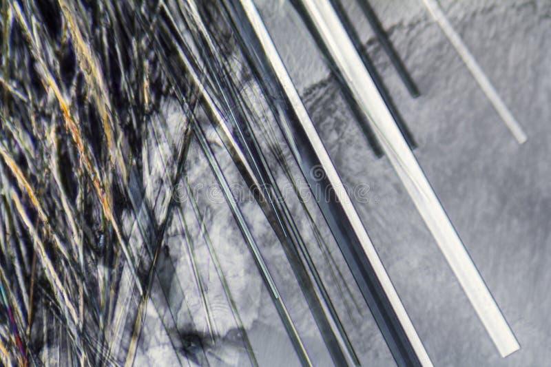 Microcrystals van het natrium dodecyl sulfaat royalty-vrije stock fotografie