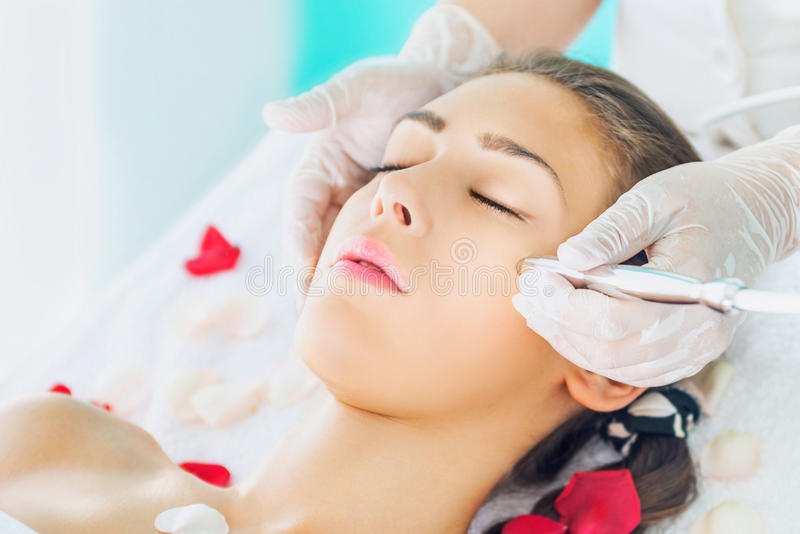 Microdermabrasion treatment royalty free stock photos