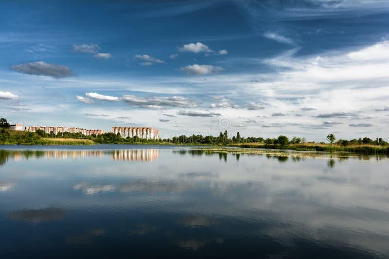 Microdistrict la diapositiva sueca en Gomel en el verano belarus fotos de archivo libres de regalías