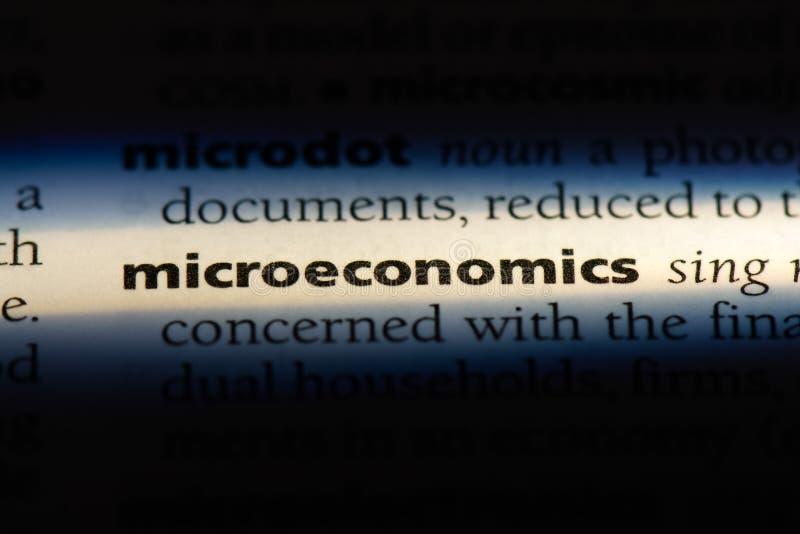 microeconomics royaltyfri bild