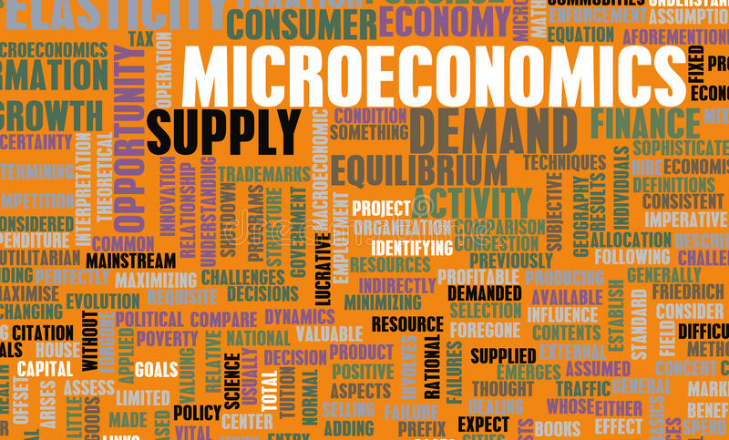 Microeconomics vector illustration