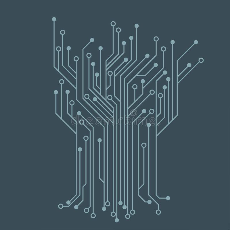 Free Microelectronics Circuits. Blue Circuit Board Vector Background. Royalty Free Stock Images - 131146069