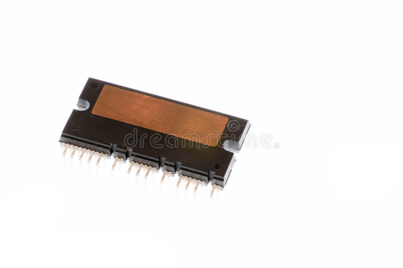Microelectronics component. Various packages royalty free stock image