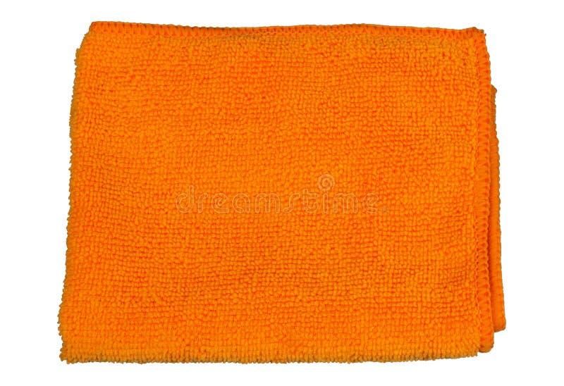 Microfiber布料桔子, 免版税库存图片
