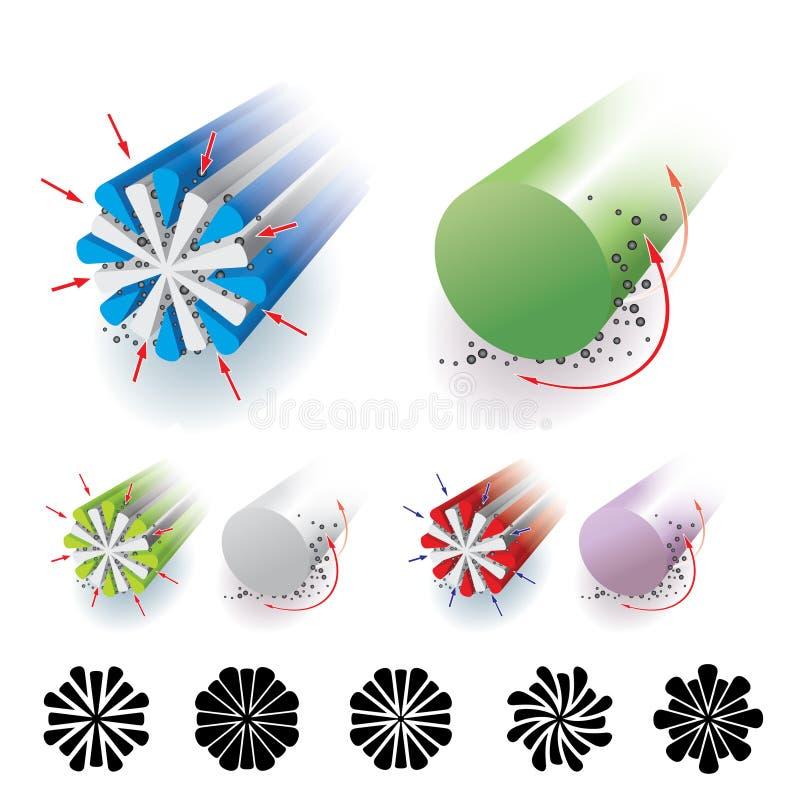 microfiber απεικόνιση αποθεμάτων