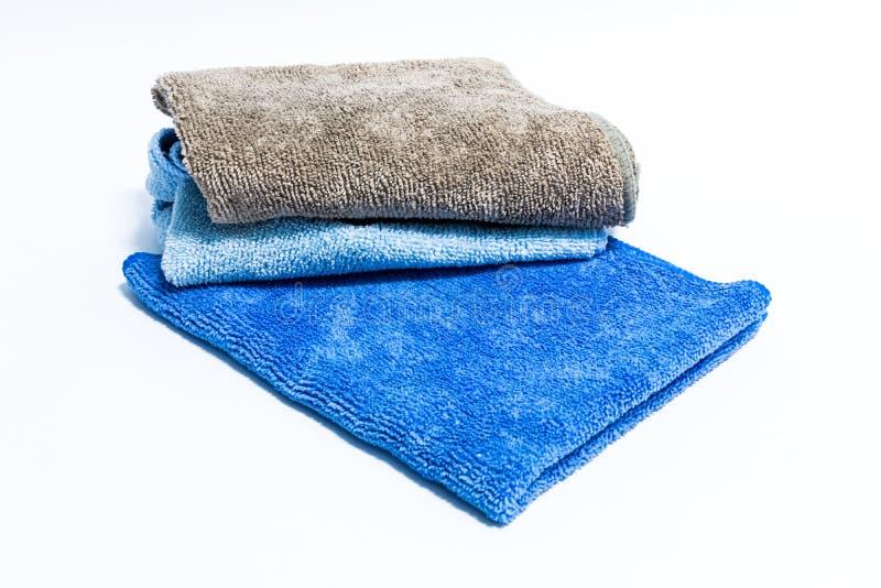 Microfiber ręcznik dla samochodowego wytarcia obrazy stock