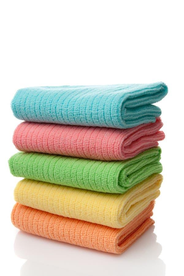 microfiber ręczniki obrazy stock