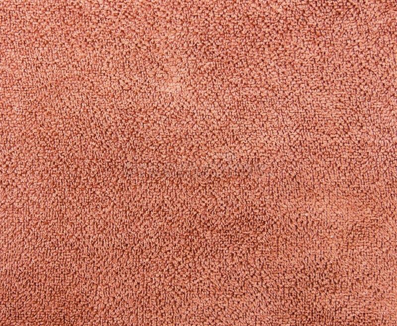 Microfibra de la textura del paño del marrón del primer fotografía de archivo