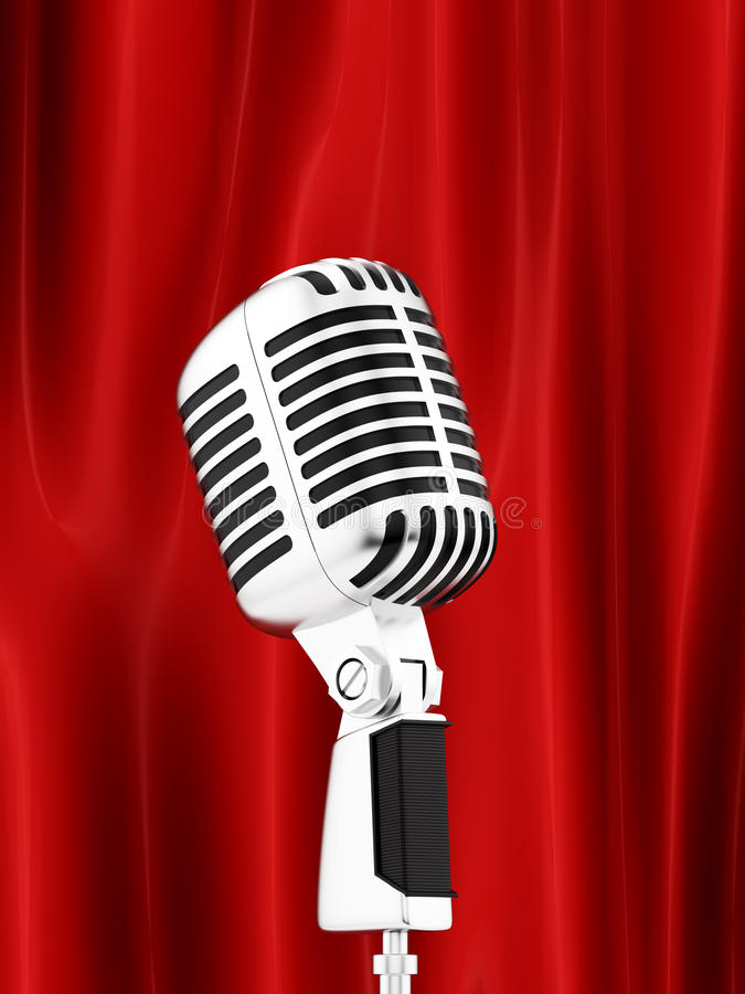 Microfone ilustração stock