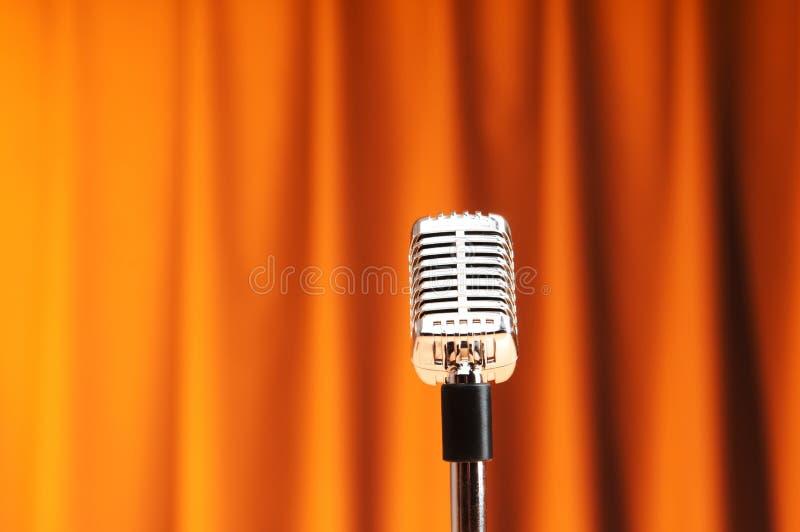 Microfone audio imagens de stock royalty free
