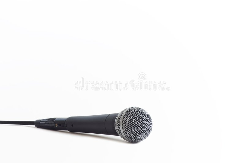 Microfone clássico fotografia de stock
