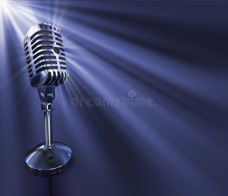 Microfone clássico ilustração stock